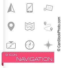 Vector navigation icons set