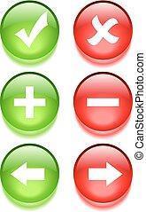 Vector navigation web buttons