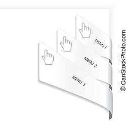 Vector navigation with cursor of hand