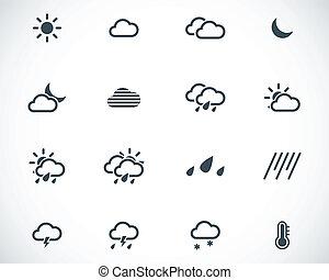 vector, negro, tiempo, conjunto, iconos