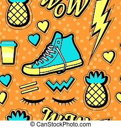 neon pop background 80s, 90s