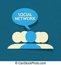 vector, netwerk, sociaal