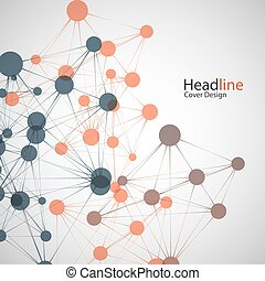 Vector network background for presentation. Connect concept