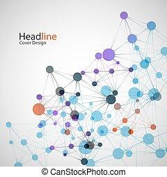 Vector network background for presentation