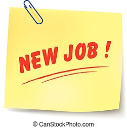 Vector new job message - Vector illustration of new job...