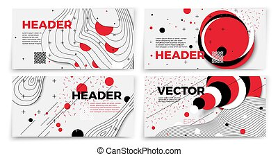 Vector new memphis style banner templates
