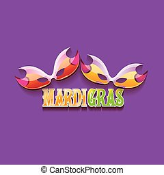 vector new orleans mardi gras vector background with carnival mask and text. vector mardi gras party or fat tuesday purple poster design template