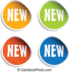 vector new sign stickers
