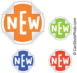 """vector """"NEW"""" stickers"""