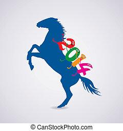 vector new year horse