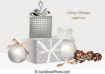 Christmas greeting card decor