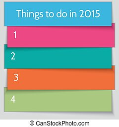 Vector New Year Resolution multi color List template
