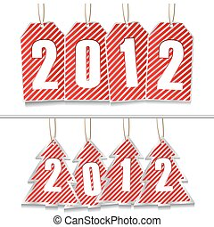 Vector New Year Tags