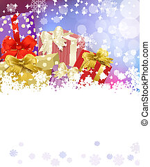 Vector New Year's Eve, Christmas background with  gifts