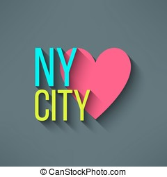 Vector New York city love t-shirt design, logo and typography