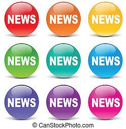 Vector news set icons - Vector illustration of news set...