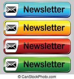 Vector newsletter buttons