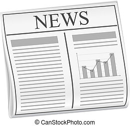 Abstract newspaper, vector eps10 illustration