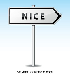Vector nice directional sign - Vector illustration of nice...
