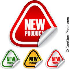 vector, nieuw product, etiketten