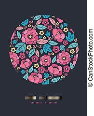 Night Kimono Blossom Circle Decor Pattern Background