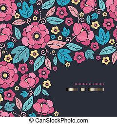 Night Kimono Blossom Corner Decor Pattern Background