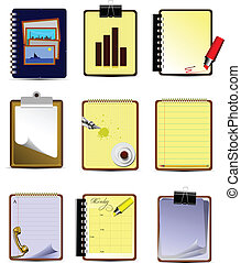 Vector Nine Office and Business icons. Help for designers...
