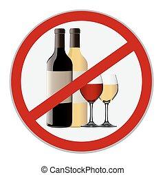 vector, no, alcohol, señal