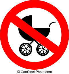 Vector no baby carriage sign