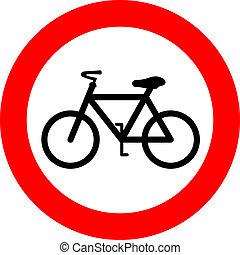 Vector no bicycle sign
