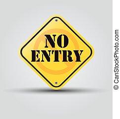 no entry sign - vector no entry sign