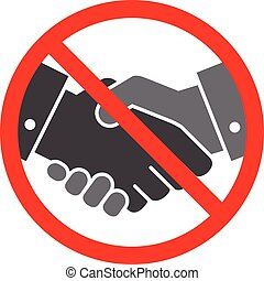 Vector no handshake icon on white background. Flat design ...