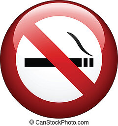vector no smoking mark