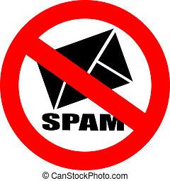 vector, no, spam, señal