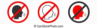 Vector no talking sign on white background