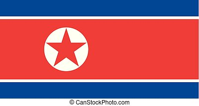 Vector North Korean flag background