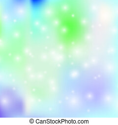 Vector Northern Lights Abstract Background with Snowfall, Blurred Backdrop.