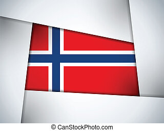 Vector - Norway Country Flag Geometric Background