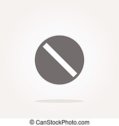 vector not allowed sign web icon, button isolated on white