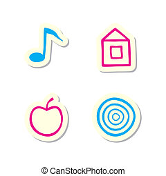 Note, Home, Apple and Target Icons