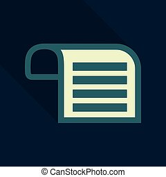 Vector Note Paper in flat style with shadow
