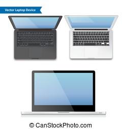 vector notebook laptop illustration