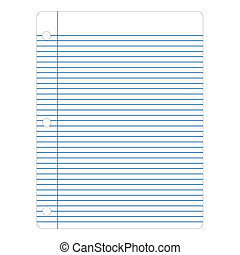 Vector Notebook Paper - Vector illustration of notebook ...