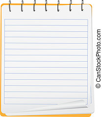 Vector notebook - Vector opened small notebook with spiral ...