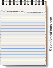 vector notepad - vector illustration of notepad with torn...
