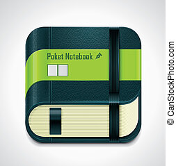 Vector notepad XXL icon - Detailed icon representing...