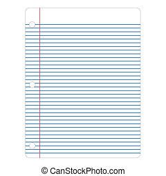 vector, notitieboekje papier
