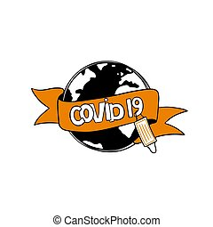 Coronavirus 2019-nCoV concept with globe and medical mask
