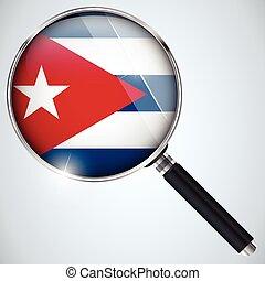 NSA USA Government Spy Program Country Cuba - Vector - NSA ...