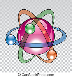 vector nuclear atom icon